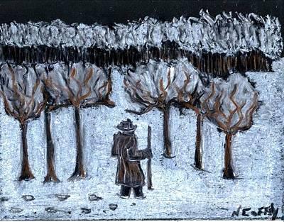 Pastel - Late Walk In The Snow by Neil Stuart Coffey