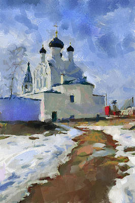 Digital Art - Late Winter Church 2 by Yury Malkov