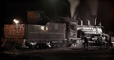 Engine House Photograph - Latenight Cleaning by Ken Smith