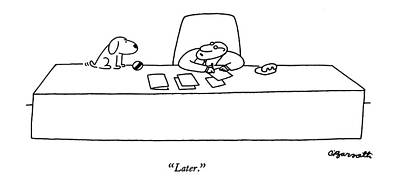 Playing Drawing - Later by Charles Barsotti