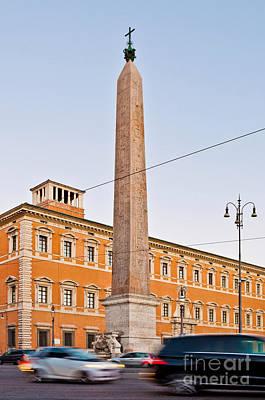 Lateran Obelisk In Rome Art Print by Luis Alvarenga