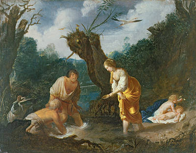 Clearing Painting - Latona Transforming The Peasants by Johann Hulsman