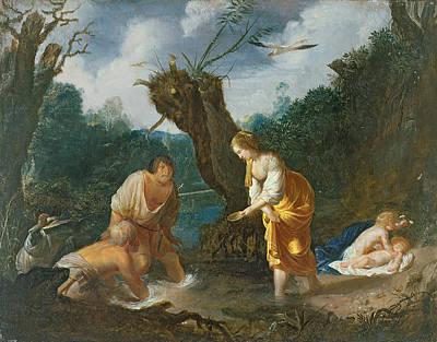 Latona Transforming The Peasants Art Print by Johann Hulsman