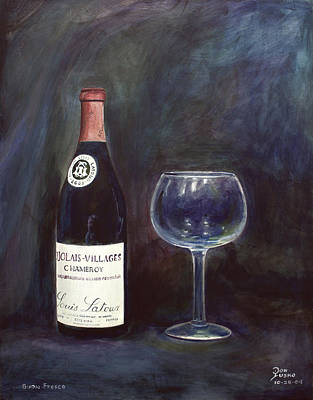 Latour Wine Buon Fresco 3 Primary Pigments Art Print by Don Jusko
