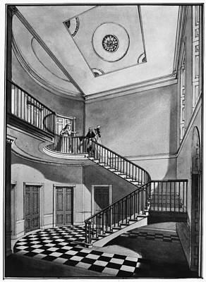 Checkerboard Floor Painting - Latrobe House, 1799 by Granger