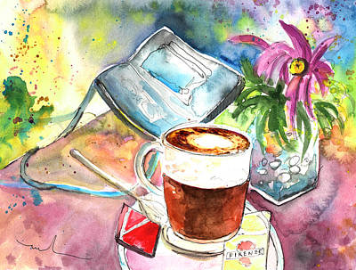 Painting - Latte Macchiato In Italy 01 by Miki De Goodaboom