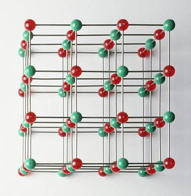 Large Group Of Objects Photograph - Lattice Of Sodium And Chlorine Atoms by Dorling Kindersley/uig