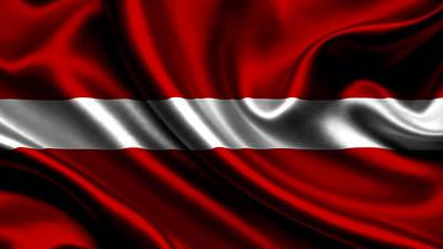 Countries Photograph - Latvia Flag by VRL Art