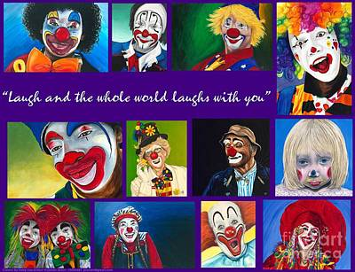Klown Painting - Laugh And The Whole World Laughs With You by Patty Vicknair