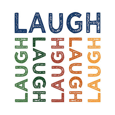 Primary Colors Digital Art - Laugh Cute Colorful by Flo Karp