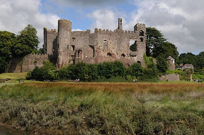 Laugharne Castle Art Print by Jeremy Voisey