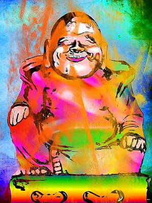Budai Painting - Laughing Buddha by Daniel Janda