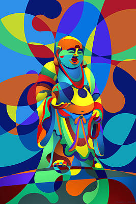 Digital Art - Laughing Buddha by Randall Henrie