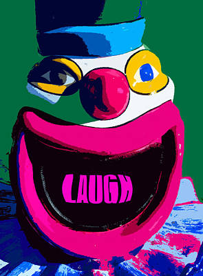 Laugh Painting - Laughing Clown by David Lee Thompson