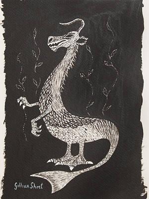 Laughing Fantasy Animal Art Print by Gillian Short