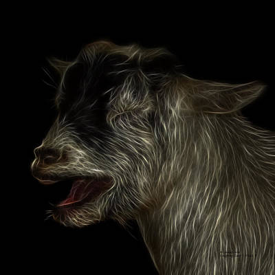 Animal Lover Digital Art - Laughing Goat - 0312 F by James Ahn