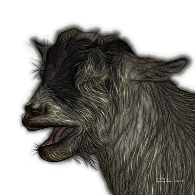 Digital Art - Laughing Goat - 0312 Fs by James Ahn