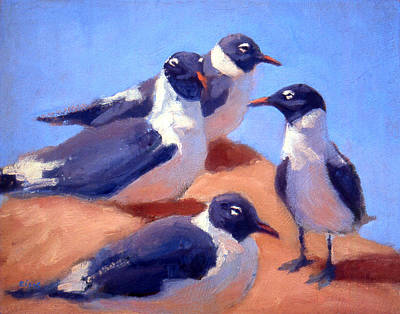 Painting - Laughing Gulls by Neil Rizos