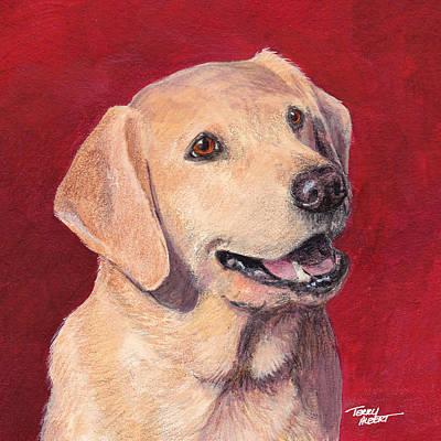 Laughing Labrador Art Print