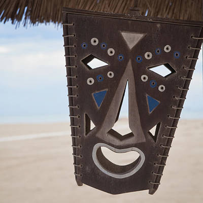 Photograph - Laughing Tropical Mask by Angela Bonilla