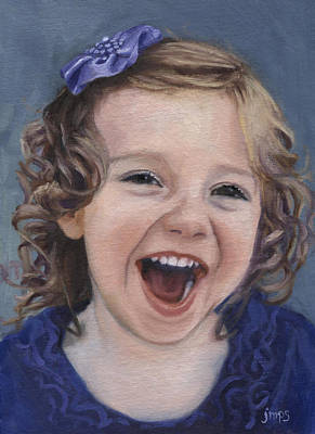 Laughter #15 Art Print by Jean  Smith