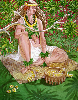 Painting - Lauhala by Jack Adams