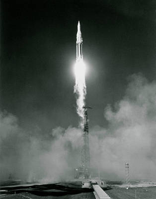 Launch Of A Saturn 1 Rocket Art Print