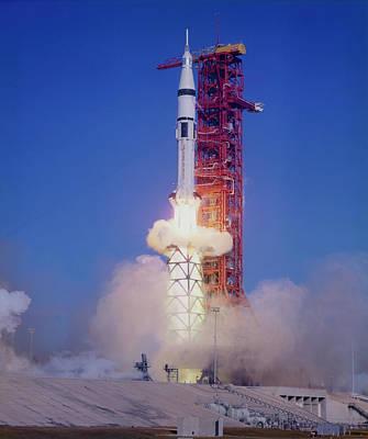 Skylab 4 Wall Art - Photograph - Launch Of Skylab 4 by Nasa/science Photo Library