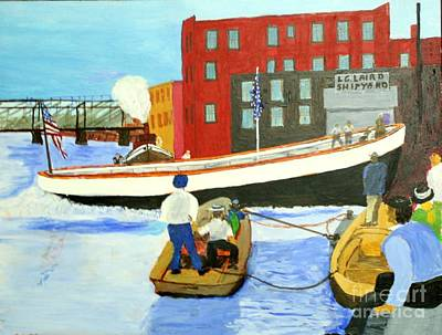Painting - Launch Of The Margaret D by Bill Hubbard