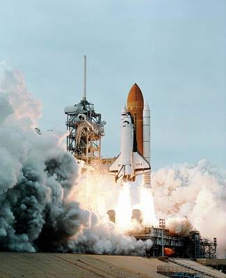 Launch Of The Space Shuttle Columbia Art Print