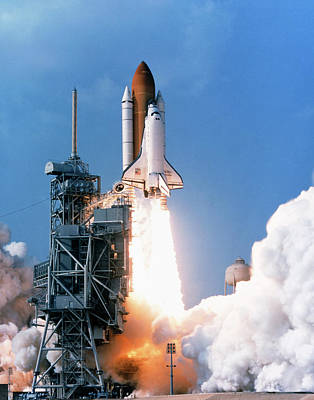 Launch Of The Space Shuttle Discovery On Sts-91 Art Print