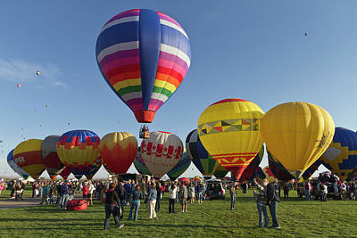 Balloon Festival Photograph - Launch Site At The Albuquerque Hot Air by William Sutton