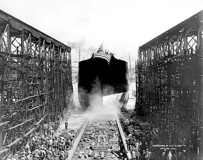 1916 Photograph - Launching Of Ss Acme by Underwood Archives