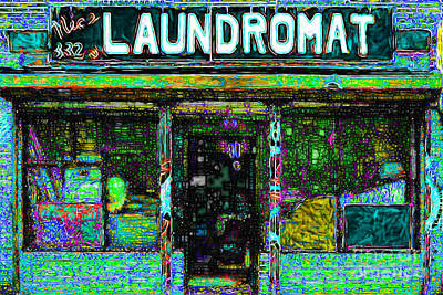 Storefront Digital Art - Laundromat 20130731p180 by Wingsdomain Art and Photography