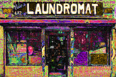 Storefront Digital Art - Laundromat 20130731p45 by Wingsdomain Art and Photography