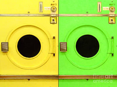Laundromat Drying Machines Two 20130801a Art Print by Wingsdomain Art and Photography