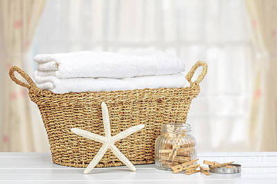 Basket Photograph - Laundry Basket by Amanda Elwell