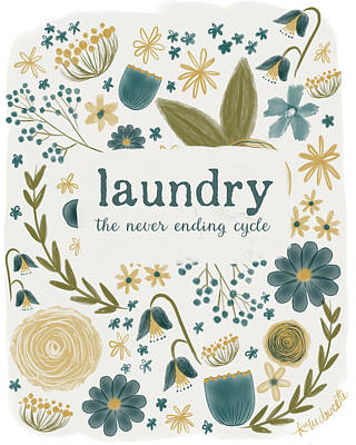 Laundry Painting - Laundry Cycle by Katie Doucette