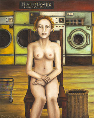 Green Eyes Painting - Laundry Day 5 by Leah Saulnier The Painting Maniac