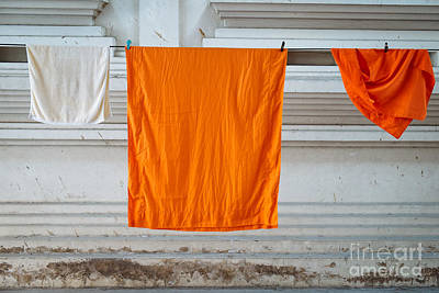 Monk Photograph - Laundry Day At The Temple by Dean Harte