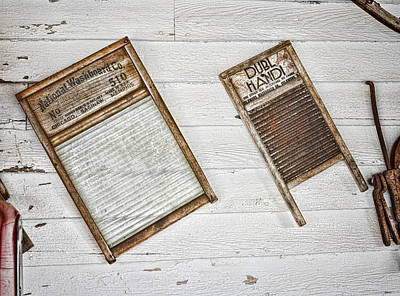 Washboard Wall Art - Photograph - Laundry Day by Heather Applegate