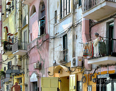 Laundry Day In Procida Art Print