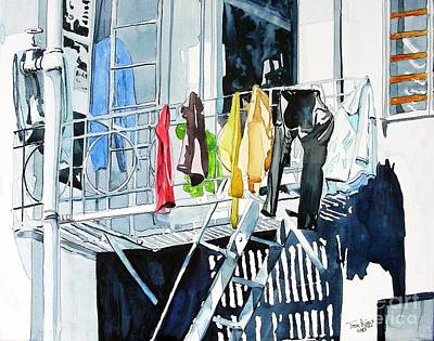 Laundry Day In San Francisco Art Print by Tom Riggs
