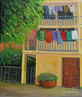 Painting - Laundry Day by Laurie Morgan