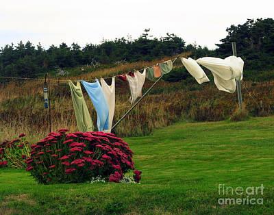 Laundry Art Print by Patricia Januszkiewicz