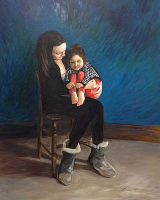Painting - Laura And Natalie by Mary C Haneline