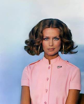 Photograph - Laura Hutton Wearing A David Crystal Dress by Arnaud de Rosnay
