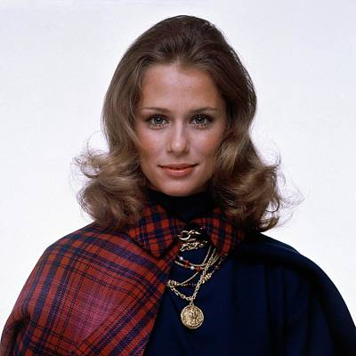 Laura Hutton Wearing Van Cleef & Arpel Necklaces Art Print
