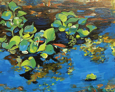Painting - Laura's Pond I by Trina Teele