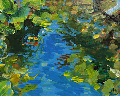 Painting - Laura's Pond II by Trina Teele